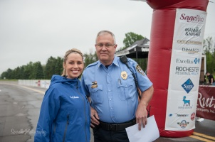Jennifer Johnson and M. Charland of Webster Police at Tour de Cure Rochester