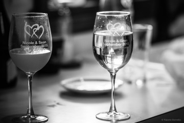 Wedding day glasses by Sorrells Photography