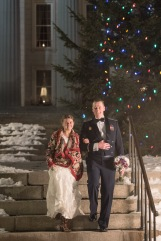 Bridal portrait at Montpelier Capitol building