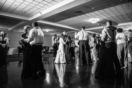 Bride and groom's first dance at Capital Plaza Hotel by Sorrells Photography