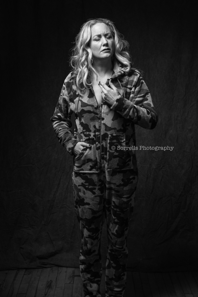 Lady in camo
